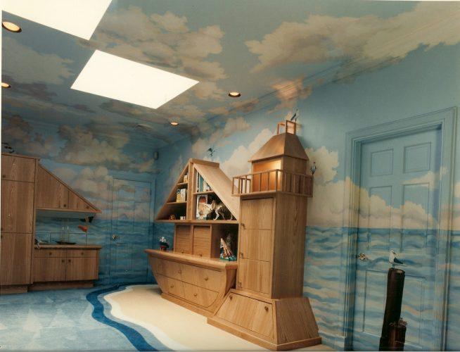 Морской стиль комнаты подростка