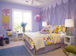 Фиолетово-желтый микс для спальни