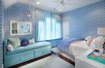 Спальня в сиренево-синих тонах