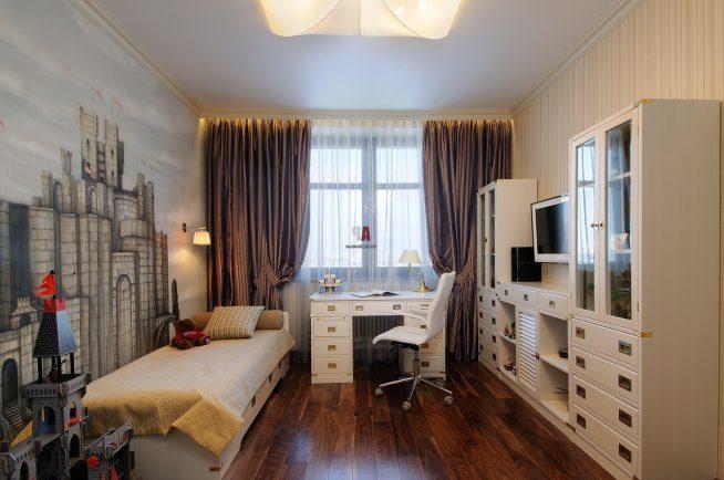Светлая комната с фотообоями