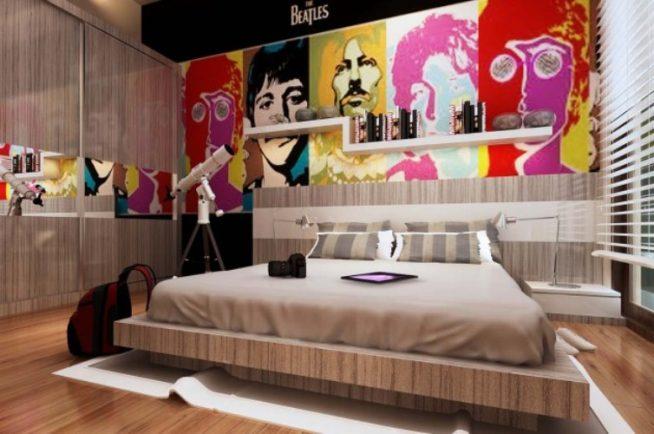 Оформление комнаты для мальчиков старше 14 лет в современном дизайне