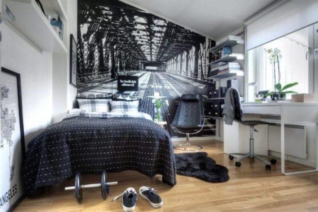 Небольшая комната в серых тонах