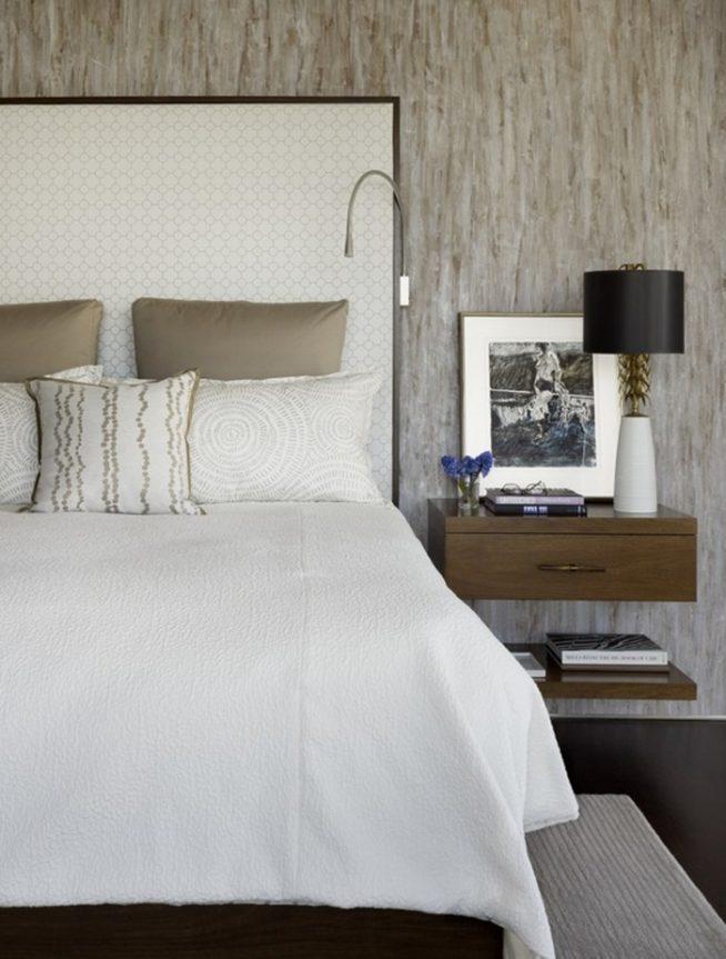 Подвесные тумбочки спальня