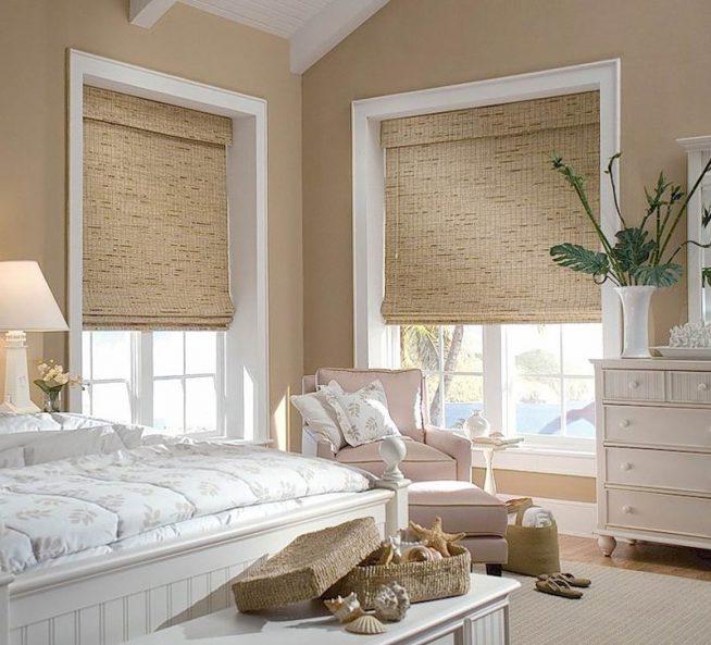 Римские шторы спальня