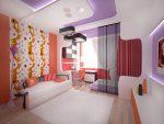 Необычное сочетание цветов в комнате