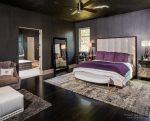 Спальня для семьи фиолетовая