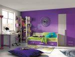 Спальня для мальчика фиолетовая