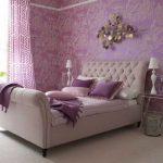 Спальня для отдыха фиолетовая