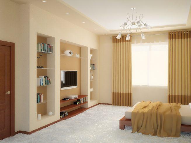 Спальня с нишами в стене