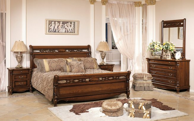 Спальня в стиле прованс с комодом