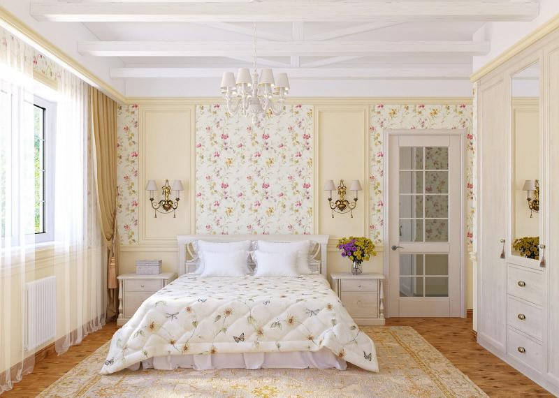 Как оформить спальню в стиле кантри