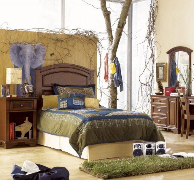 Стиль сафари в комнате подростка