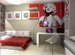 Плакат Мерлин Монро в комнате подростка