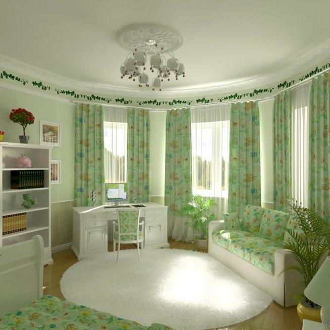 Уютный прованс в зелёном цвете