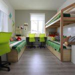 Дизайн комнаты для троих детей