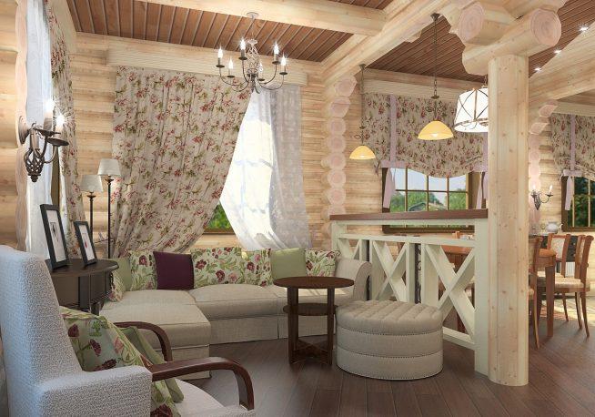 Лёгкие шторы для гостиной