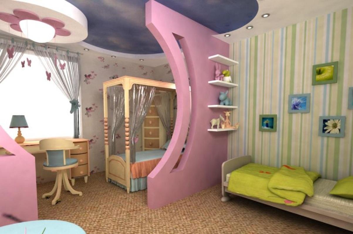 детская для троих детей варианты дизайна интерьера и планировки в