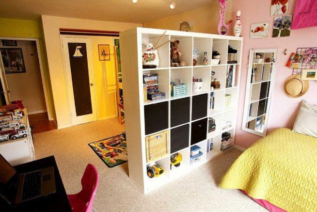 Зонирование с помощью мебели
