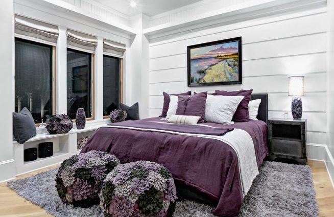 Фиолетовый декор