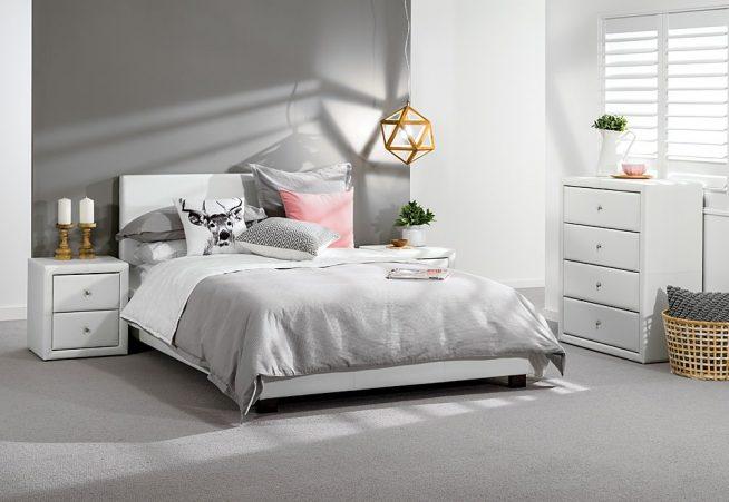Серый и белый для спальни