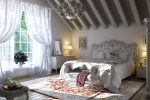 Серая спальня в стиле прованс