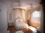 Дизайн современной спальни с элементами барокко