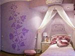 Сиреневая комната для девочки в стиле глэмбарокко