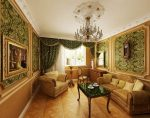Золотисто-зелёный барочный интерьер