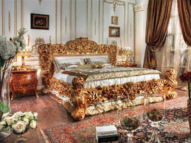 Спальный интерьер барокко