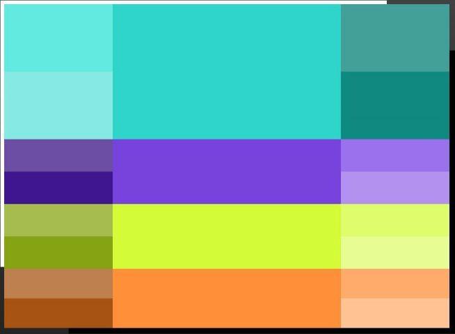 Гармоничные сочетания с бирюзовым цветом