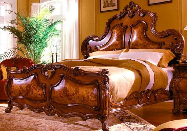 Кровать в стиле барокко