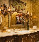 Свет в ванной в стиле барокко