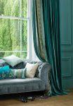 Зелёная штора с кантом