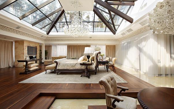 Совмещённая гостиная и спальня в стиле прованс