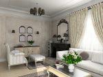 Современная гостиная с белой мебелью