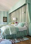 Бирюза в дизайне спальни