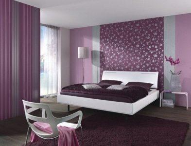 30 идей комбинирования обоев в интерьере спальни