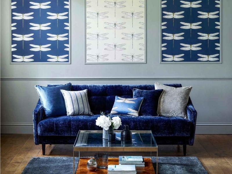 36 идей комбинирования обоев в интерьере гостиной
