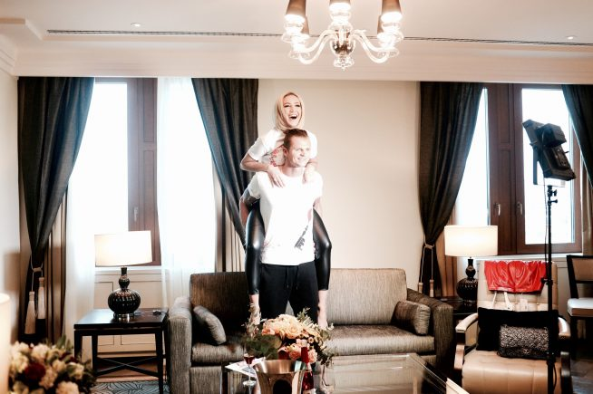Ольга Бузова с мужем в их доме