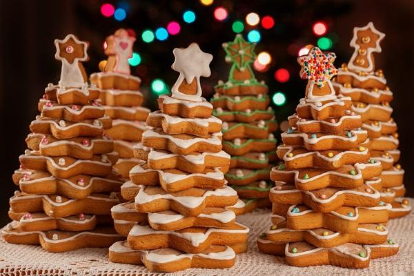 Печенье в виде ёлок