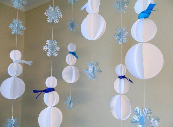 Подвесные гирлянды для Нового года