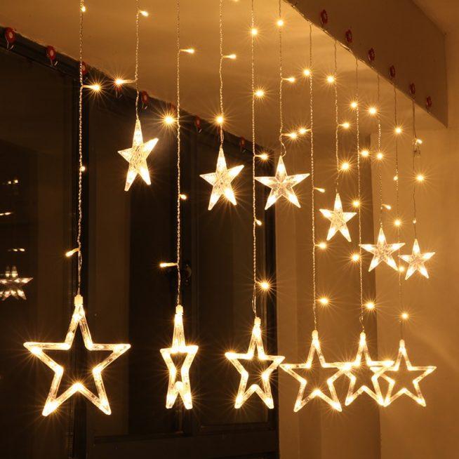 Электрические гирлянды в форме звёзд