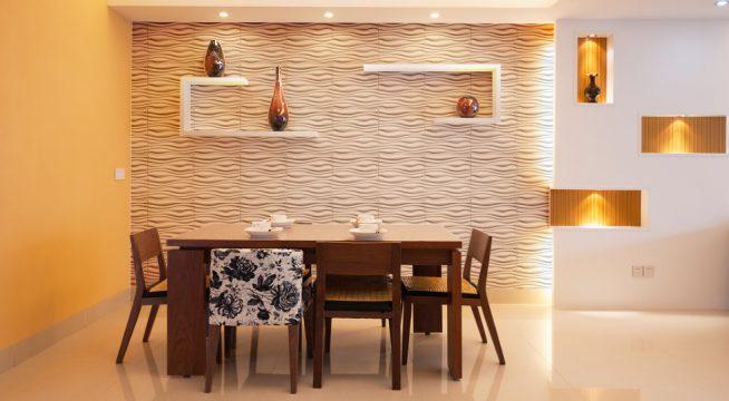 Стеновая панель в интерьере столовой