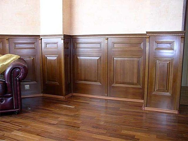 Деревянные панели во внутренней отделке стен