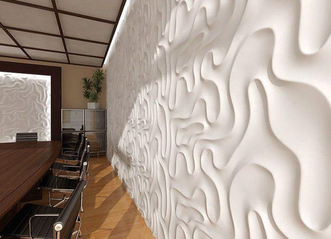 3D панели в отделке стен