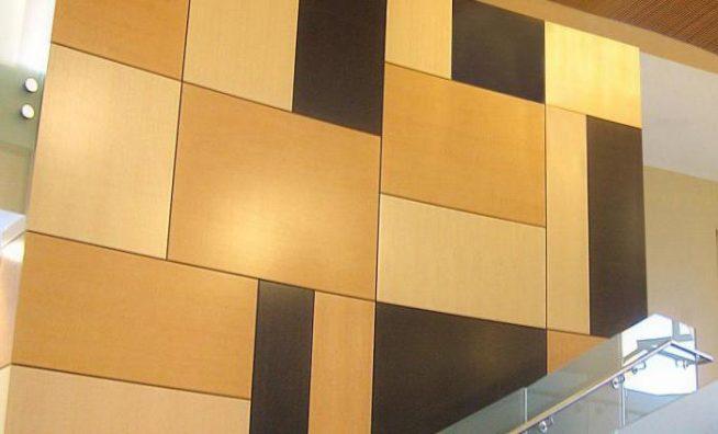 Стеновые панели в форме плит