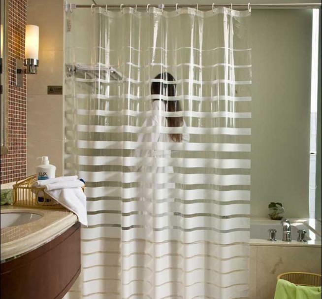 Полиэтиленовая штора для ванны