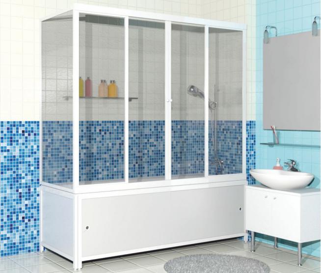 Защитная пластиковая штора для ванны
