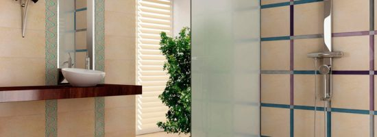 Дизайн шторки для ванной комнаты