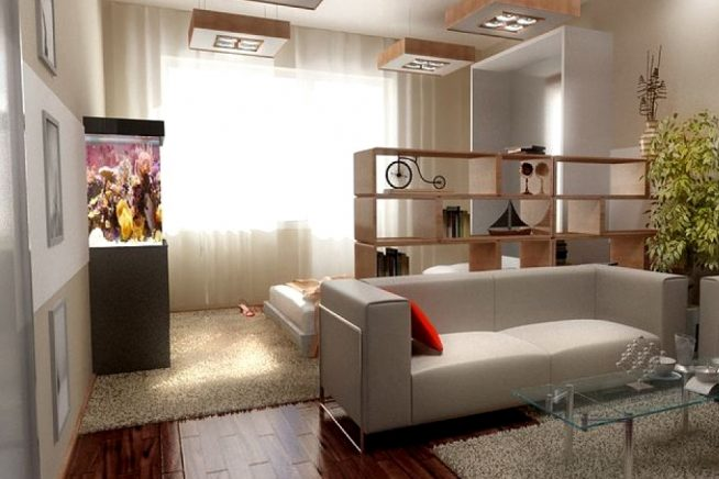 Пример зонирования комнаты